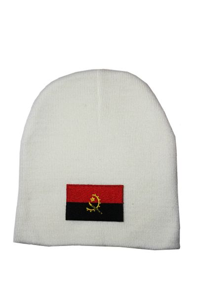 Angola Country Flag Beanie Knitted Toque WHITE HAT CAP... NEW
