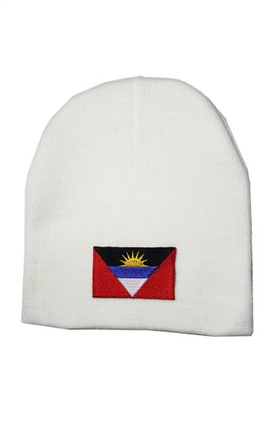 Antigua and Barbuda Country Flag Beanie Knitted Toque HAT CAP... NEW
