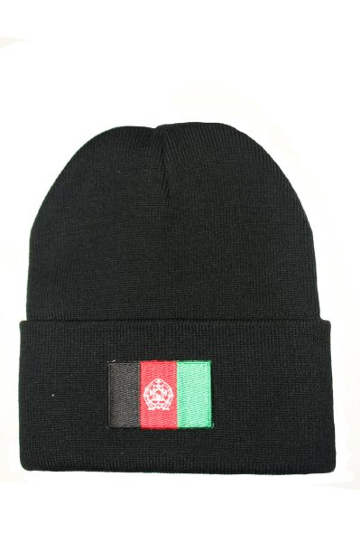 Afghanistan Country Flag BRIM Knitted Toque HAT CAP choose your color BLACK, RED, PINK..... NEW