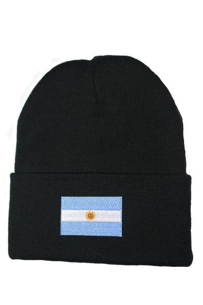 ARGENTINA Country Flag BRIM Knitted Toque HAT CAP choose your color BLACK, PINK... NEW