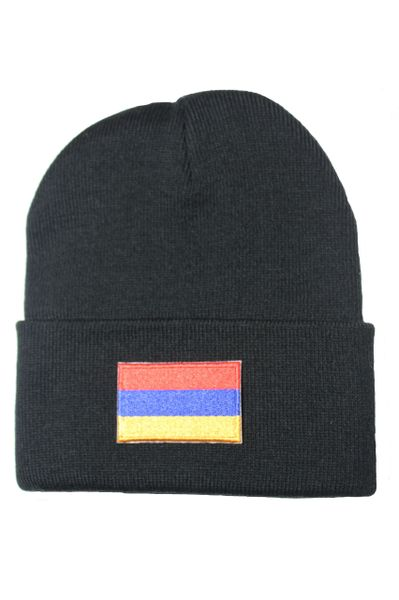 ARMENIA Country Flag BRIM Knitted HAT choose your color CAP BLACK, WHITE, RED, PINK, BLUE... NEW