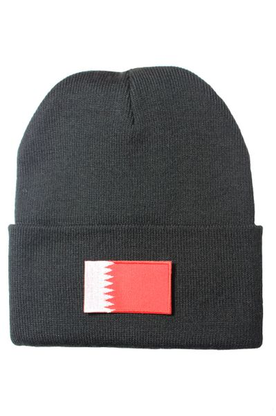 BAHRAIN Country Flag BRIM Knitted HAT choose your color BLACK, WHITE, RED, PINK, BLUE... NEW