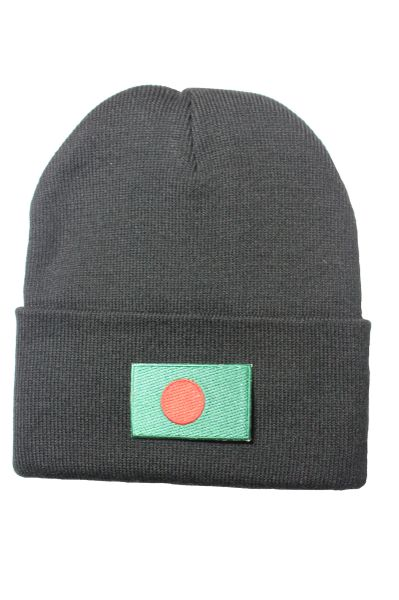 BANGLADESH Country Flag BRIM Knitted HAT choose your color BLACK, WHITE, RED, PINK, BLUE... NEW