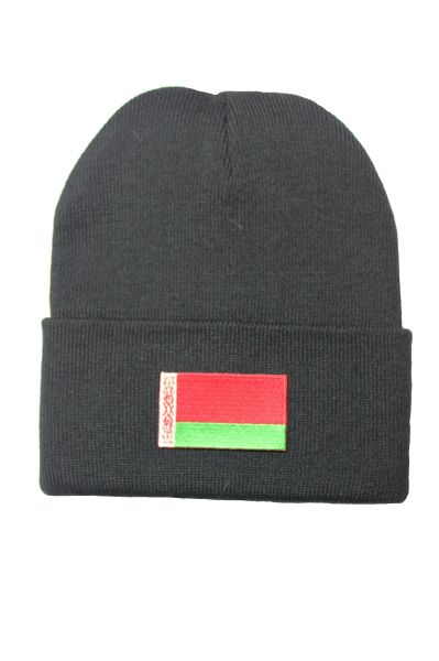 BELARUS (NEW) Country Flag BRIM Knitted HAT CAP choose your color BLACK, WHITE, RED, PINK, BLUE... NEW