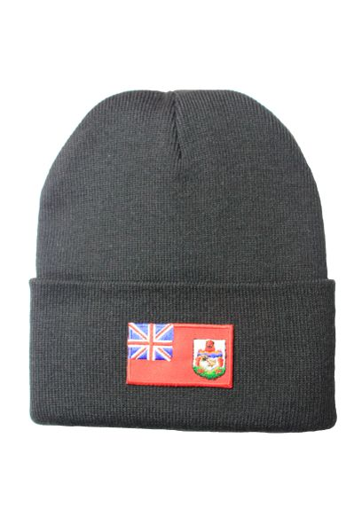 BERMUDA Country Flag BRIM Knitted HAT CAP choose your color BLACK, WHITE, RED, PINK, BLUE... NEW