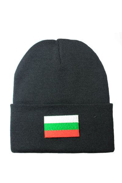 BULGARIA Country Flag BRIM Knitted HAT CAP choose your color BLACK, WHITE, RED, PINK, BLUE... NEW