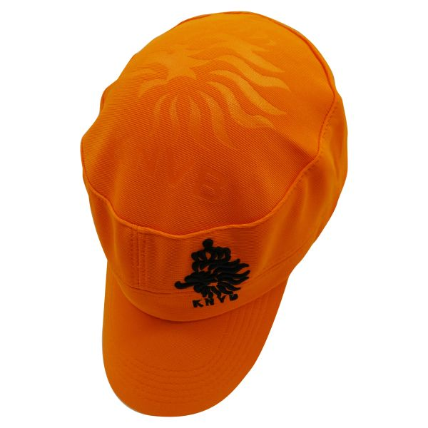 NETHERLANDS HOLLAND ORANGE KNVB LOGO FIFA SOCCER WORLD CUP MILITARY STYLE HAT CAP .. HIGH QUALITY .. NEW
