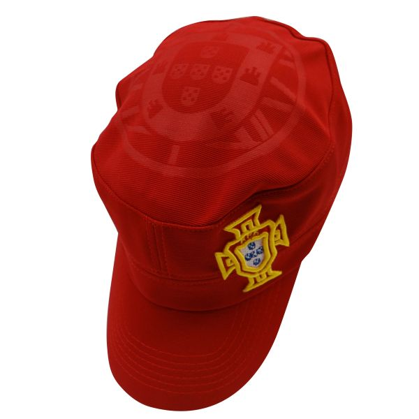 PORTUGAL RED FPF LOGO FIFA SOCCER WORLD CUP MILITARY STYLE HAT CAP .. HIGH QUALITY .. NEW