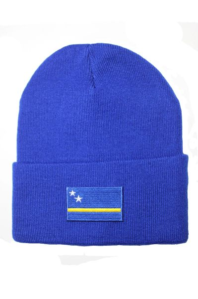 CURACAO Country Flag BRIM Knitted HAT CAP choose your color BLACK, WHITE, RED, PINK, BLUE... NEW