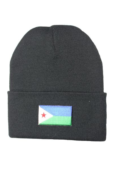 DJIBOUTI Country Flag BRIM Knitted HAT CAP choose your color BLACK, WHITE, RED, PINK, BLUE... NEW