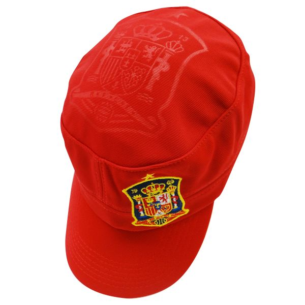 SPAIN ESPANA RED FIFA SOCCER WORLD CUP MILITARY STYLE HAT CAP .. HIGH QUALITY .. NEW