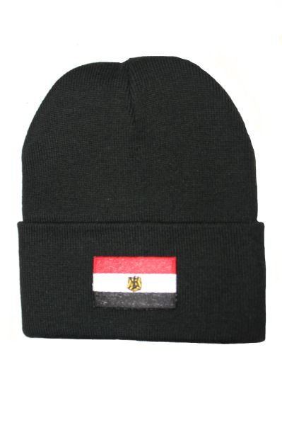 EGYPT Country Flag BRIM Knitted HAT CAP choose your color BLACK, WHITE, RED, PINK, BLUE... NEW