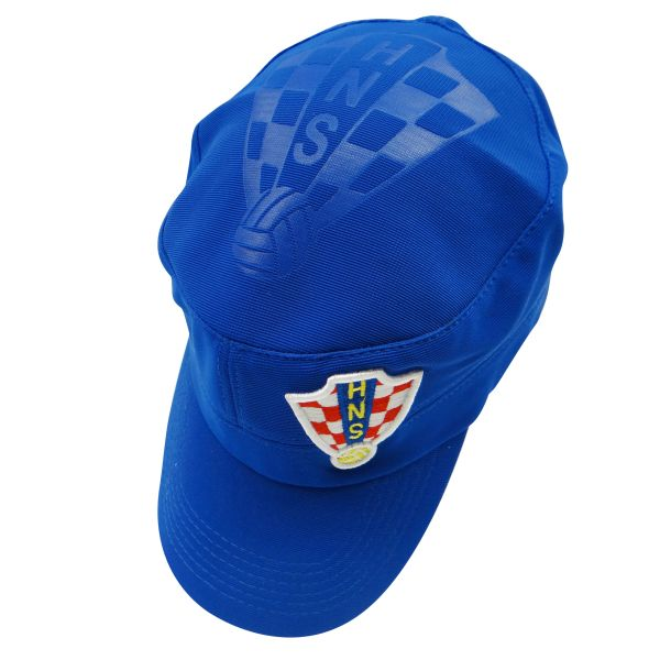 CROATIA BLUE HNS LOGO SOCCER WORLD CUP MILITARY STYLE HAT CAP .. HIGH QUALITY .. NEW