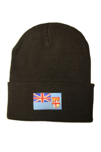 FIJI Country Flag BRIM Knitted HAT CAP choose your color BLACK, WHITE, RED, PINK, BLUE... NEW