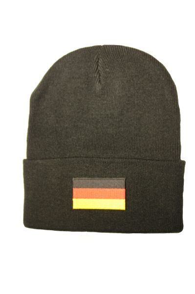 GERMANY Country Flag BRIM Knitted HAT CAP choose your color BLACK, WHITE, RED, PINK, BLUE... NEW