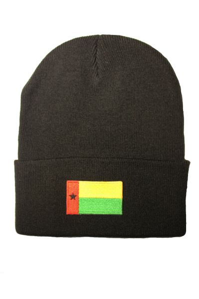 GUINEA Country Flag BRIM Knitted HAT CAP choose your color BLACK, RED, PINK... NEW