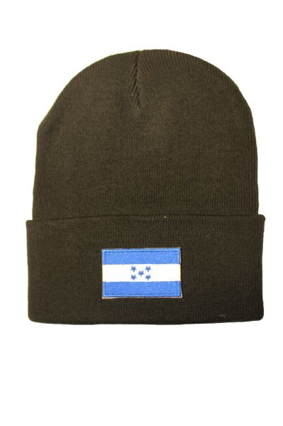 HONDURAS Country Flag BRIM Knitted HAT CAP choose your color BLACK, WHITE, RED, PINK, BLUE... NEW