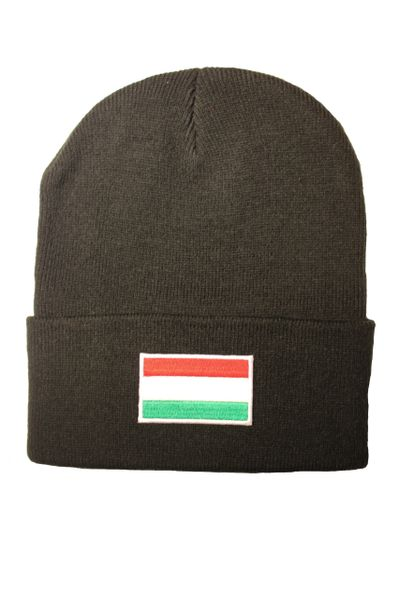 HUNGARY (plain) Country Flag BRIM Knitted HAT CAP choose your color BLACK, WHITE, PINK... NEW