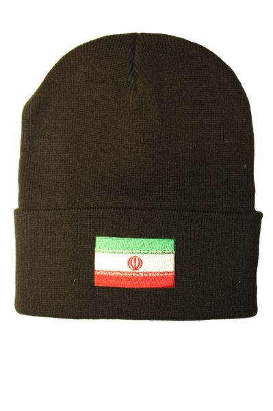 IRAN Country Flag BRIM Knitted HAT CAP choose your color BLACK, WHITE, RED, PINK, BLUE... NEW