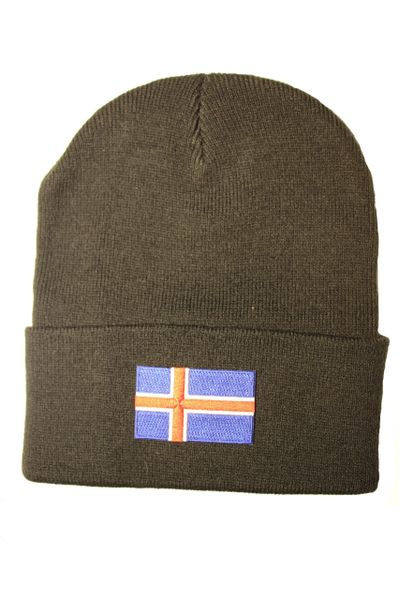 ICELAND Country Flag BRIM Knitted HAT CAP choose your color BLACK, WHITE, RED, PINK, BLUE... NEW