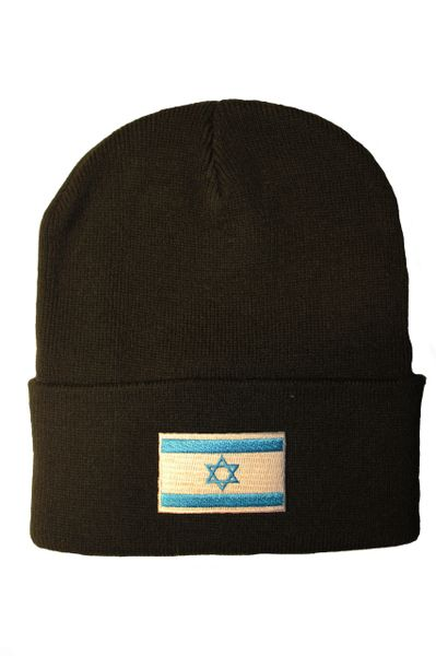 ISRAEL Country Flag BRIM Knitted HAT CAP choose your color BLACK, WHITE, RED, PINK, BLUE... NEW