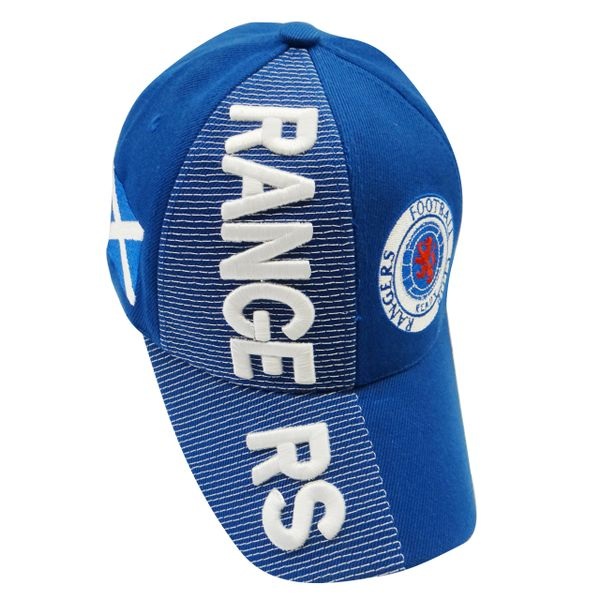 RANGERS BLUE COUNTRY FLAG WITH LOGO FIFA SOCCER WORLD CUP EMBOSSED HAT CAP .. HIGH QUALITY .. NEW