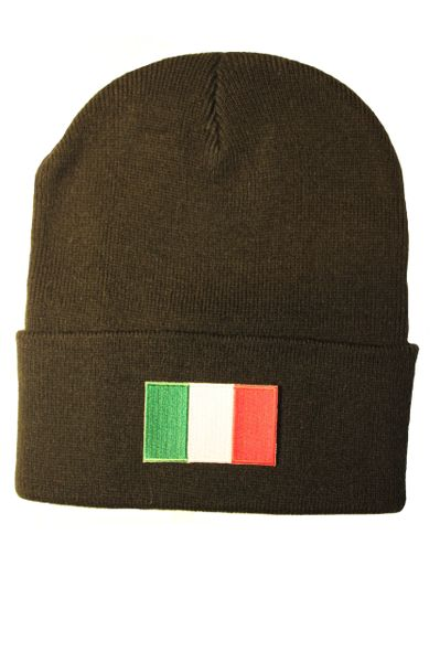 ITALY Country Flag BRIM Knitted HAT CAP choose your color BLACK, WHITE, RED, PINK, BLUE... NEW