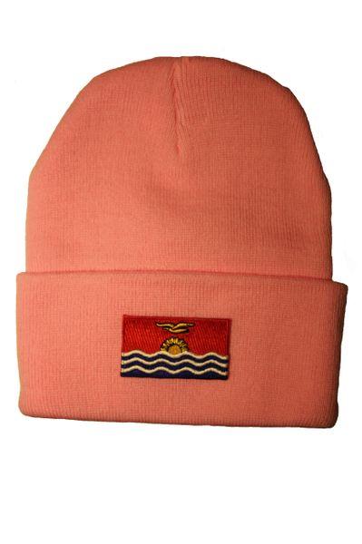 KIRIBATI - Country Flag BRIM Knitted HAT CAP choose your color PINK, BLUE... NEW