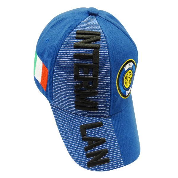 INTER MILAN BLUE COUNTRY FLAG WITH LOGO FIFA SOCCER WORLD CUP EMBOSSED HAT CAP .. HIGH QUALITY .. NEW