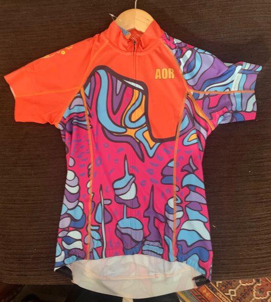 Tree Sisters ladies full zip short sleeve cycling jersey