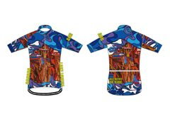 Mt Temple Men's Full Zip Short Sleeve Cycling Jersey.