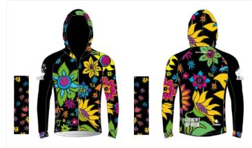 BLACK VERSION SPRING FLOWERS LADIES FULL ZIP WIND JACKET - available after April 8
