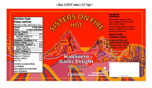 SISTERS ON FIRE HOT SAUCE HOT