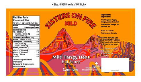 SISTERS ON FIRE HOT SAUCE MILD