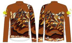 Rundle Range Mens MTB long sleeve jersey