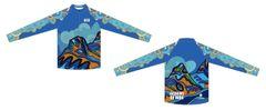 Sisters In Blue Ladies quarter zip long sleeve jersey