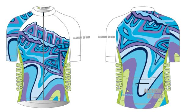 Looking South Ladies full zip short sleeve cycling jersey CLUB FIT