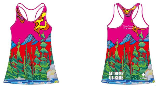 Three Sisters Playground Racer Back Ladies Tank RECYCLED FABRIC SPF50