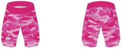Ladies Pink Camo Italian Chamois stretch short