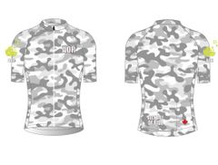 Grey Camo Ladies Full Zip Short sleeve cycling jersey