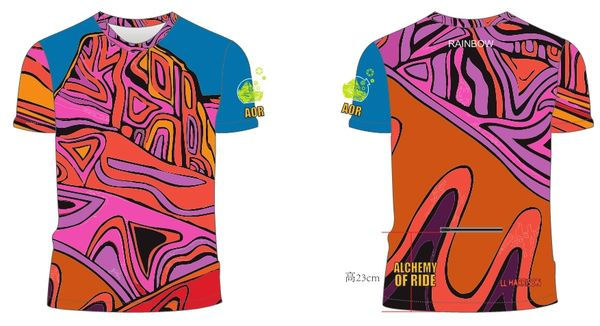 Rainbow Ladies Short sleeve MTB jersey 30SPF
