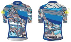 The Sky The Sky (Mt Assiniboine) Ladies full zip short sleeve cycling jersey