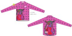 "PRISCILLA PREFERS PINK Ladies Thermal long sleeve with 12"" zipper"