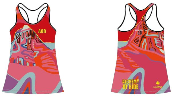 SISTERS ON FIRE LADIES RACER BACK TANK