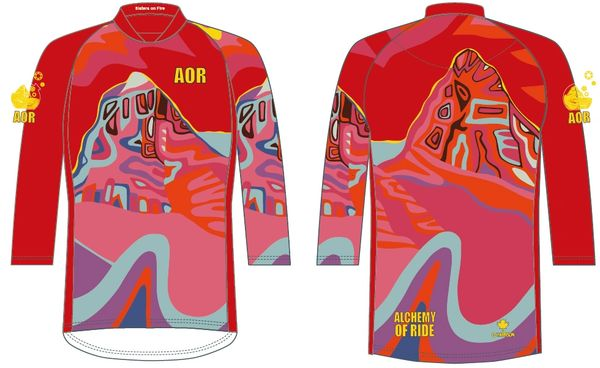 Sisters of the Rainbow Ladies 3/4 sleeve MTB jersey 30SPF