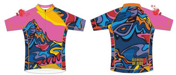 St Nicks Peak Ladies full zip short sleeve cycling jersey IN STOCK