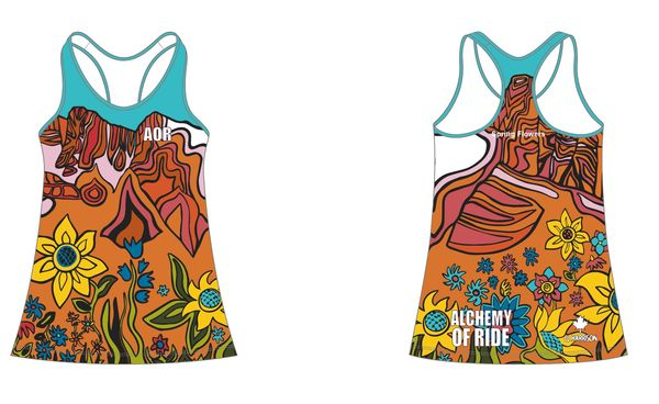 Spring Flowers Ladies Racer Back Tank