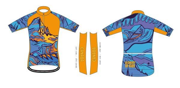 Num Ti Jah (Bow Lake) Mens Full Zip short sleeve jersey