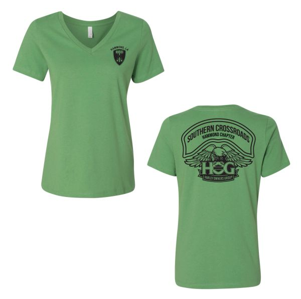 Southern Crossroads Canvas Ladies V-Neck Relaxed