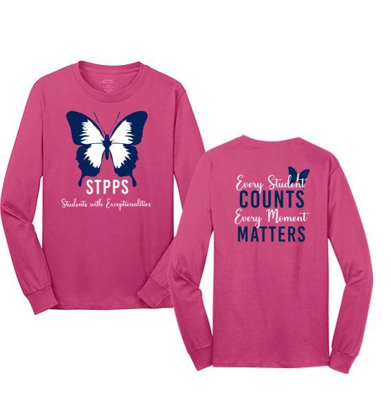 STPPS Pink Long Sleeve T-shirt